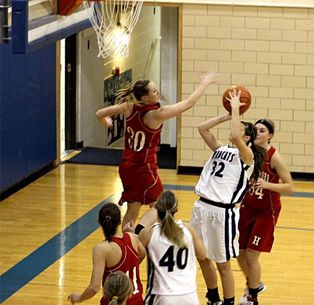 Description: S:\STAFF\cningen\ARC. PIX\BASKETBALL\GIRLS BB\GBB 2011- 2012\GBB @ Banner Co Jan. 2012\Katie Heitz on Defense.JPG
